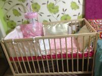 Cot and mattress new free delivery .quick sale so price reduced