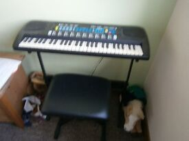 electric keyboard with stand