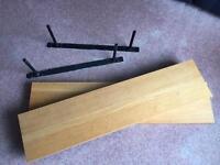 2 Floating Shelves- Oak veneer