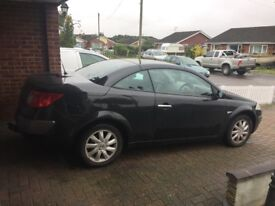 Renault megane convertible 10 months mot private plate included in sale j777 elv