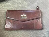 Coach brown leather women's wallet