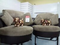 Dfs x2 swivel chairs