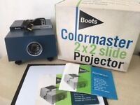 Vintage 1970's Boots Colormaster 2 x 2 Slide Projector in Original Box - Collectors item