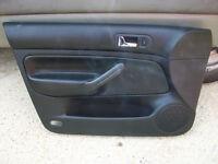 VW Golf MK4 black leather door cards for 5 door hatchback