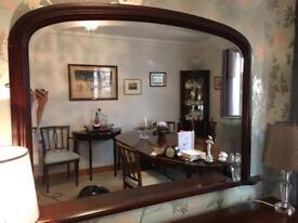 Mahogany overmantel mirror