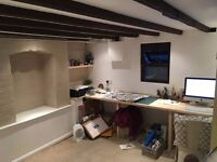 Small design/craft/art studio space shared with one other person in Stafford available for rent