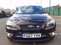 2007 FORD FOCUS ST 2.5 TURBO ST-2 IN BLACK WITH FULL SERVICE HISTORY