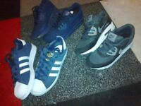 2 pairs airmax 90s and a pair of Adidas Superstar