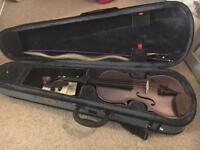 Purple 3/4 Violin with Stentor Case bow broken