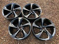 """Genuine 19"""" Jaguar F-Pace R Sport Alloy Wheels Black Set of Four Wheels HK8M-1007-LA"""