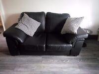 Black Leather sofas.