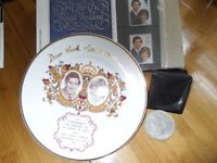 Charles and Diana Engagement Plate & more.