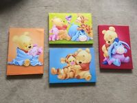 Winnie the Pooh canvases