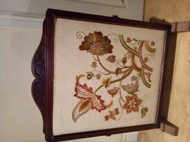 Framed Embroidery stitches flowers