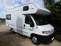 Bessacarr E425 4 berth motorhome with L Shaped lounge for sale