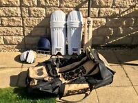 Boom Boom Sports Bat, Pads, Gloves, Bag, GN Helmet - Very Good Condition and includes a GN Helmet