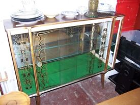 Glass display unit at Cambridge Re-Use (cambridge reuse)