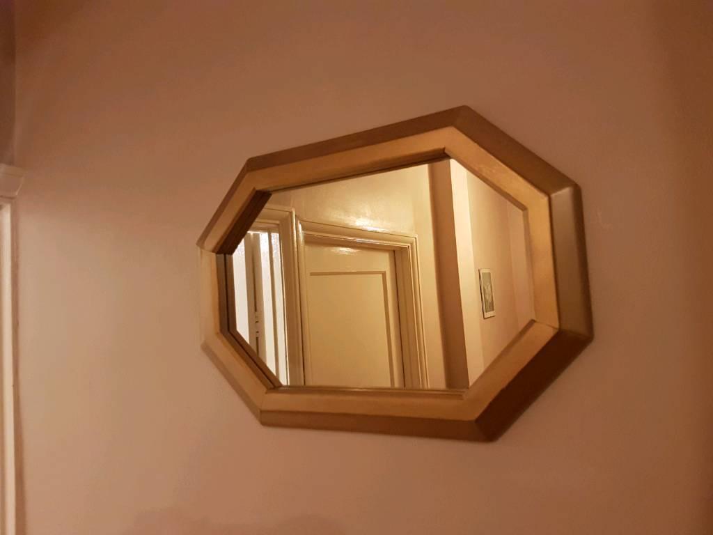 Mirror (Gold wood framed)