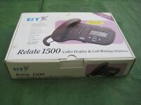 BT Relate 1500 Caller Display and Call Waiting Telephone