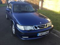 Saab 93 se 2.0 turbo convertible 2003 facelift model 3 door mot February one owner from new