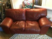 2 leather sofas for sale, a 3 seater and a 2 seater