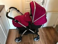 Silver cross Wayfarer with simplicity car seat, 11 months old. Non-smoking home.
