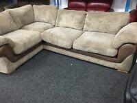 NEW / Ex Display DFS Mink Cord Corner Sofa