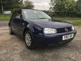 VOLKSWAGEN GOLF S 1.4 3DR BLUE 2001 LOW MILES