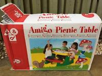 NEW Amigo kids picnic table/ bench by keter
