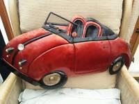 VW beetle tin plate wall art car