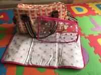 Yummy mummy changing bag by pink lining