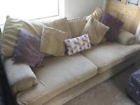 Cream sofa for sale / settee