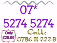 Brand New Mobile Sim Card Unused Gold Easy Memorable Number - 07* 5274 5274 - £29.99 - * Cheap *