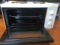 Mini Oven, With Two Electric Hobs - Excellent Condition, £35