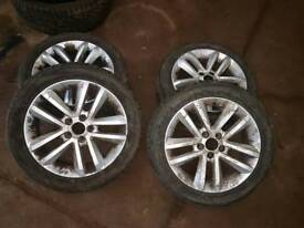 vauxhall vectra sri wheels with 4 good tyres