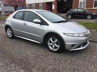 Honda Civic 2.2diesel SE I-cdti Silver 2008/58 *FSH*MOT Dec 17
