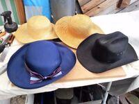 4 Fancy dress hats