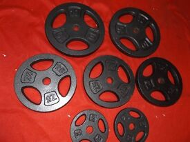46.5 standard trip grip cast iron weights
