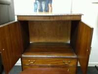 TV cabinet in dark wood - British Heart Foundation sco39426