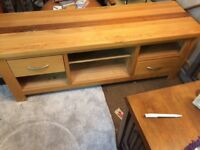 Solid wood tv cabinet large