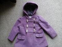 Girls Lilac Duffle Coat 12-18 Months