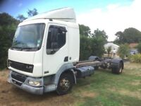 Leyland daf lf45 chassis/sleeper cab spares or repair