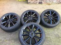 Jaguar 19 inch alloy wheels and tyres