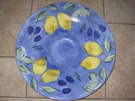 M&S Blue China Fruit Bowl