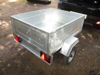NEW / UNUSED ERDE 102 TILTBED / DROPTAIL GOODS TRAILER WITH COVER....