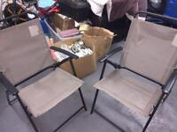 X2 fold up outdoor chairs