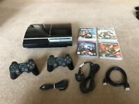 *Playstation 3 - 80GB - 2 Controllers - 4 Games - VGC*