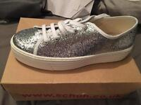 Ladies glitter canvas shoes