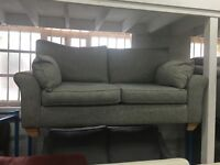 New/Ex Display Dfs Grey Fabric Contemporary 3 Seater Sofa