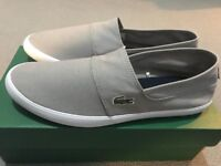 Lacoste Marice Grey Canvas Slip-On (Size 9)